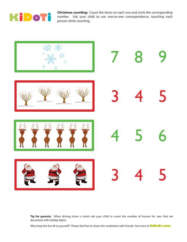Christmas Counting Worksheet 2