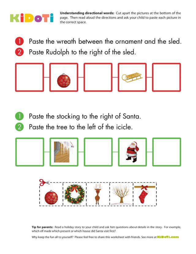 Christmas worksheet – Understanding Directions