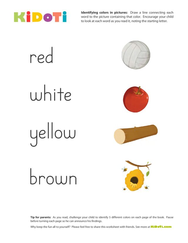 Identifying Colors (2)