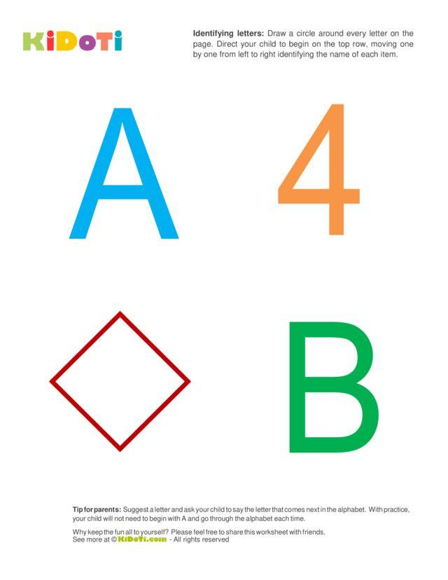 Identifying Letters (1) beginner