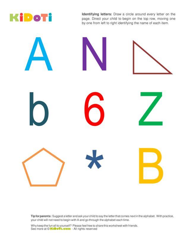 Identifying Letters (1) intermediate