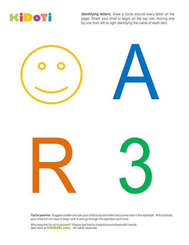 Identifying Letters (2) beginner