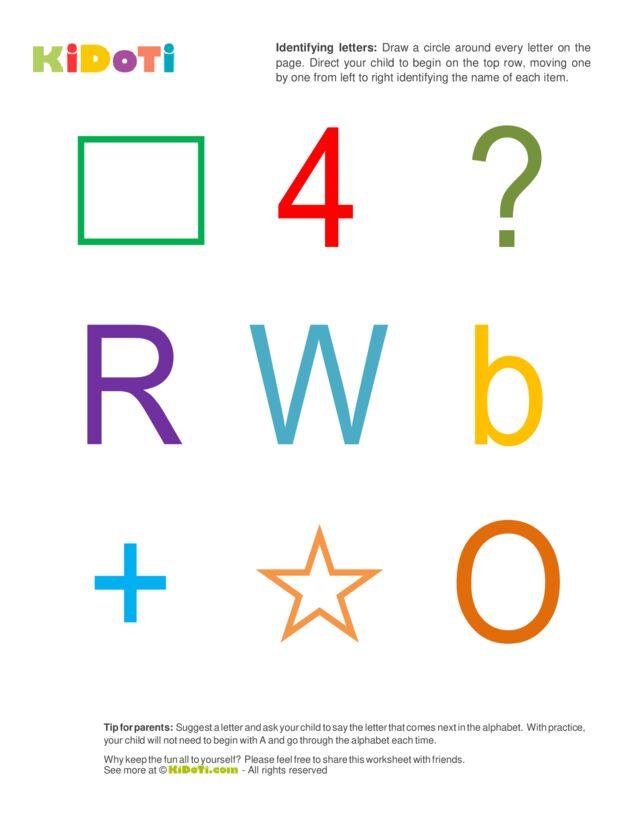 Identifying Letters (2) intermediate