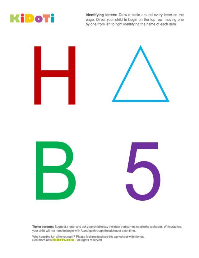 Identifying Letters (3) beginner