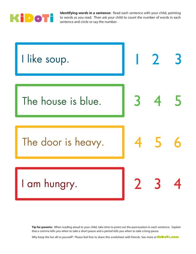 Identifying words 2