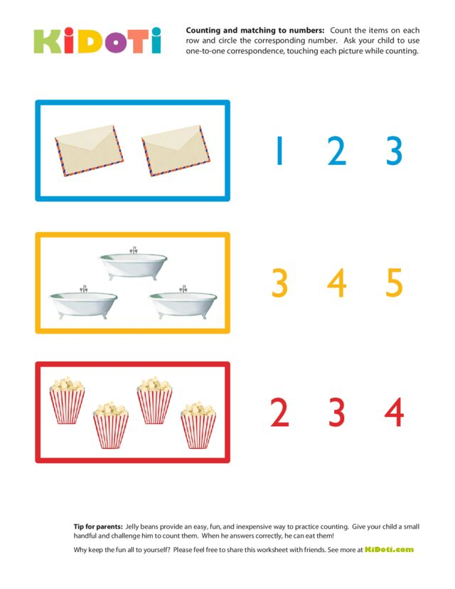Counting and Matching to Numbers 2