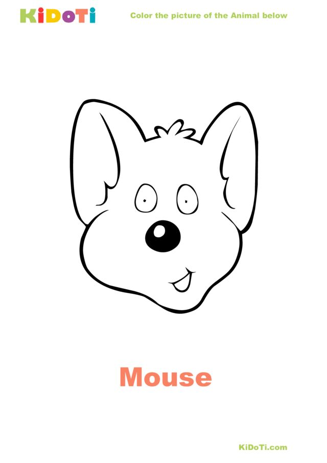Mouse face Coloring Page