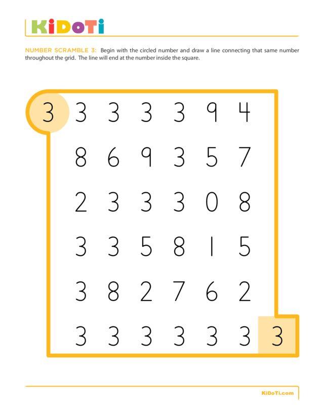 Number Scramble 3