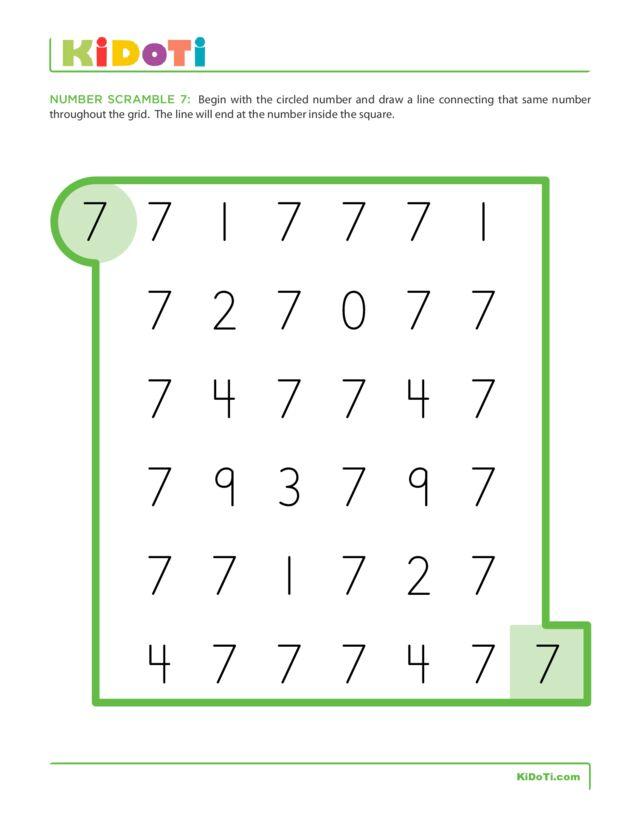 Number Scramble 7