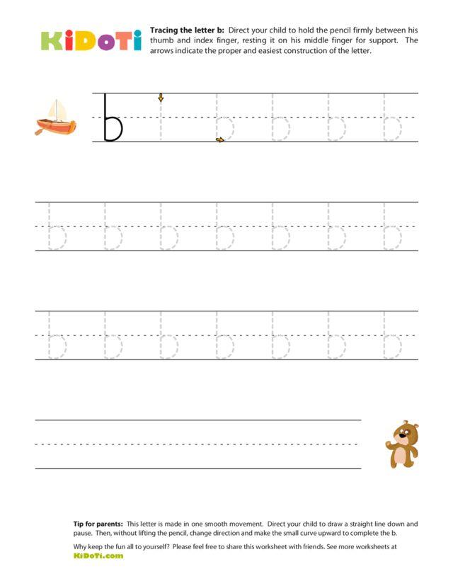 Tracing lowercase  b