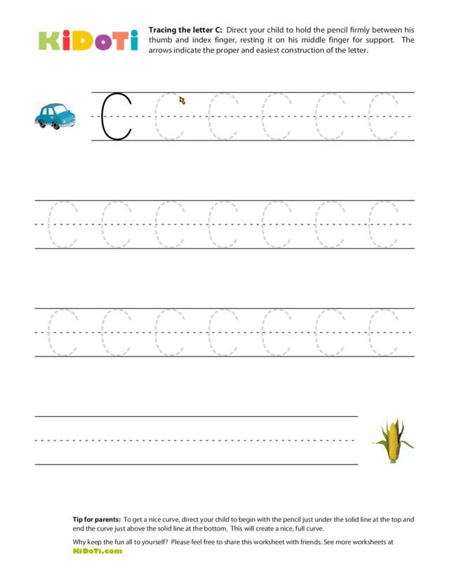 Tracing Uppercase C