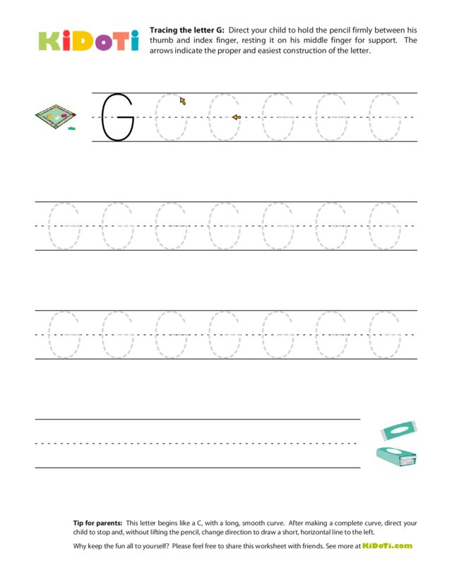 Tracing Uppercase G