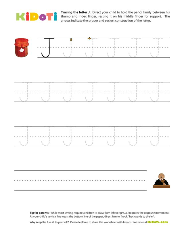 Tracing Uppercase J