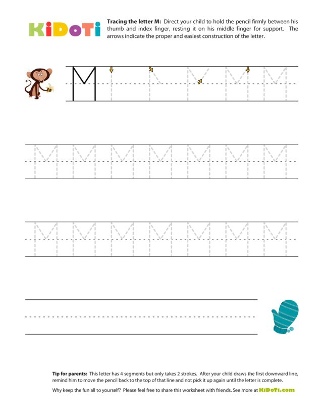 Tracing Uppercase M