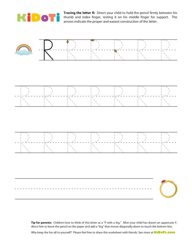 Tracing Uppercase R