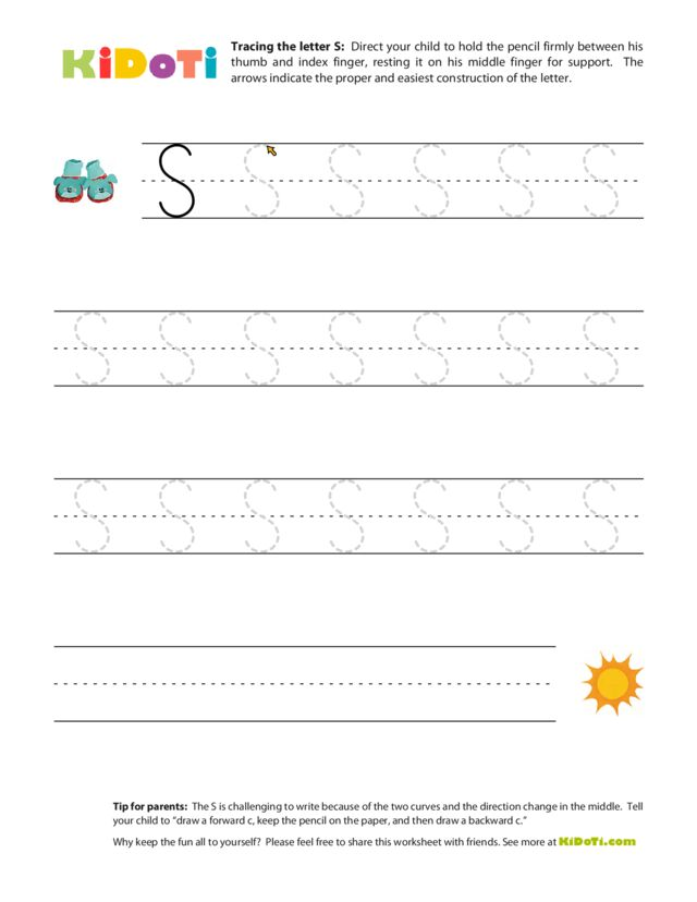 Tracing Uppercase S