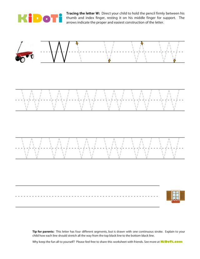 Tracing Uppercase W