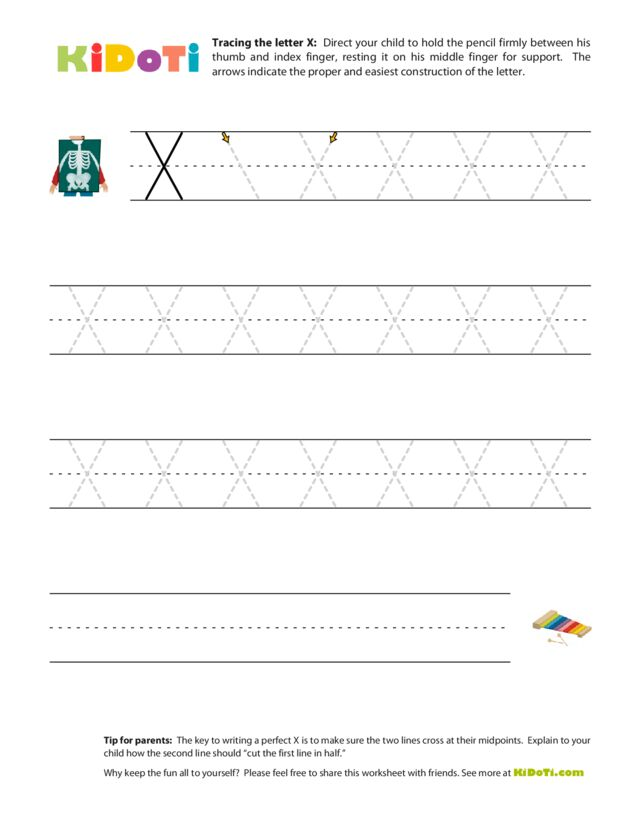 Tracing Uppercase X