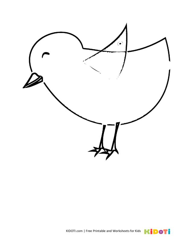 thumbnail of chicken coloring pages-19