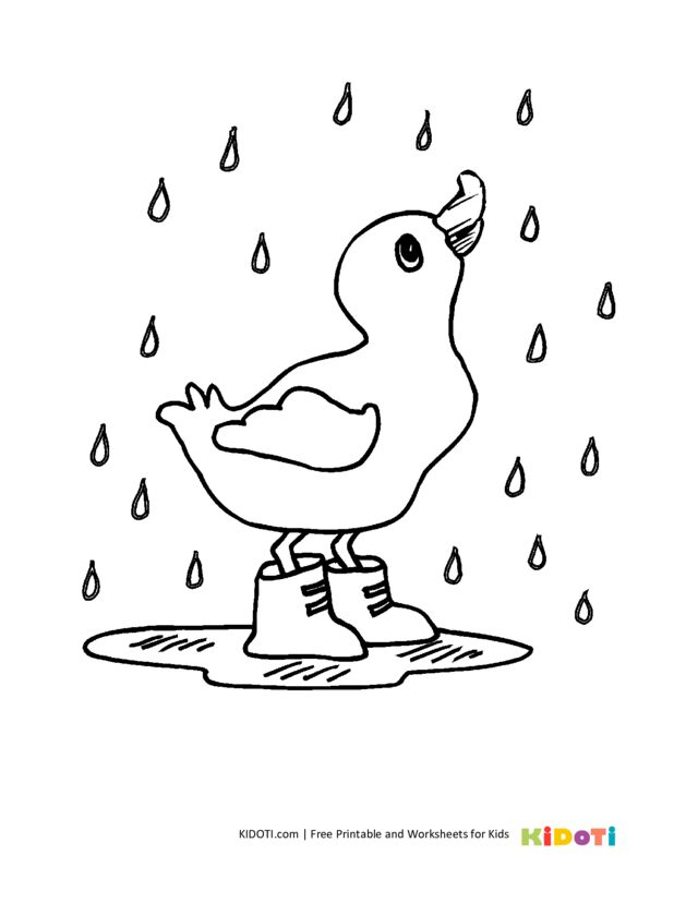 Cute duck coloring pages